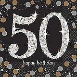 Best Amscan誕生日おもちゃ - 50歳のバースデー用 紙ナプキン 16枚入り 50th Birthday Beverage Napkins [並行輸入品] Review