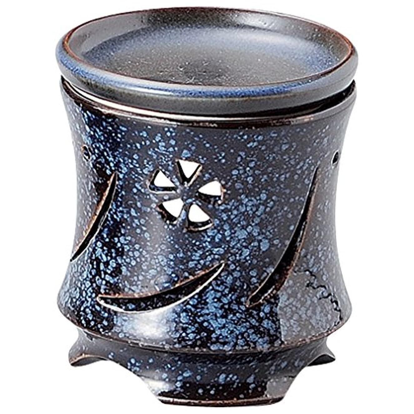 地下室店主尊敬山下工芸 常滑焼 富仙生子すかし彫茶香炉 10.5×9.5×9.5cm 13045610