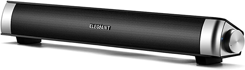 PCスピーカー ELEGIANT 高音質 ステレオ サウンドバー USB 小型 大音量 テレビ パソコン 最適 SoundBar Speaker
