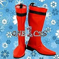 【サイズ選択可】コスプレ靴 ブーツ 12L0906 スーパー戦隊シリーズ 侍戦隊シンケンジャー シンケンレッド 女性22CM