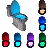 Komire Montion Sensor Led Toilet Night Light Smart Light Detection Body Motion Activated Toilet Light with 8 Color Changing W