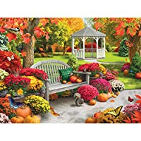 Bits and Pieces 300 Large Piece Jigsaw Puzzle for Adults - Autumn Oasis II - 300 pc Fall Scene Jigsaw by Artist Alan Giana