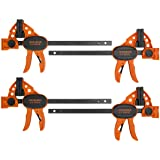 """Jorgensen 6"""" One-Hand Clamp/Spreader, 4-pack, Light Duty, E-Z Hold Bar Clamps Set, 99216A"""