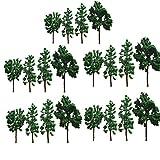 20本 樹木 木 森 材料 キット モデルツリー 鉄道模型 ジオラマ 鉄道 庭 建物