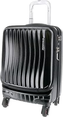 [フリクエンター] スーツケース ファスナー CLAM ADVANCE(クラムアドバンス) ストッパー付4輪キャリー フロントオープン 消音/静音キャスター 1-216 34L 46 cm 3.6kg