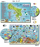 Franko Laminated Maps - Fish ID and Maps - Bonaire Scuba Dive Diving Diver Snorkel Snorkeling Map Guide Traveling Travel by FrankosMaps