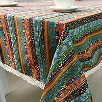 長方形のテーブルクロスレトロなテーブルクロスコットンリネンのテーブルクロス家庭の台所装飾 に適しています。, C, 140x200cm