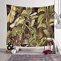 植物の装飾タペストリー, トロピカルリーフと花の壁毛布エキゾチックな印刷された寝室のリビングルームの寮のための吊り下げ布-b 203x150cm(80x59inch)