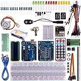 Kuman 32個 arduinoに適用 初心者 電子工作 実験 キット R3ボード+サーボモーター+多機能センサー arduino電子工作入門キット 互換キット K11