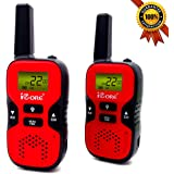 iCore Walkie Talkies for Kids Rechargeable, Toys Talkie Long Range 2 Way Walky Talky Radios Girls (Pair), Childrens Costume 2
