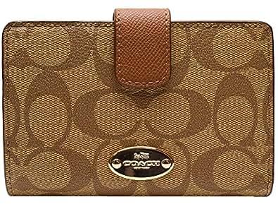 [コーチ] COACH 財布 (二つ折り財布) F53562 カーキ×サドル IMBDX シグネチャー 二つ折り財布 レディース [アウトレット品] [並行輸入品]
