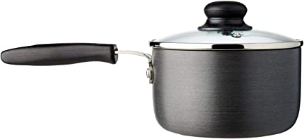 Dolphin Collection Hard Anodized Saucepan With Tempered Glass Lid, 16cm