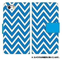 スマホケース 手帳型 zs571kl ケース 8070-A. 山形模様ブルー zs571kl ケース 手帳 [ZenFone AR ZS571KL] ゼンフォーン エーアール
