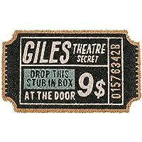 コイヤマット Giles Theatre - ジャイルズ シアター - ブラック 幅55×奥行33cm (厚み1.5cm) TJ-1770 インターフォルム(Interform) TJ-1770