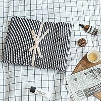 ソファベッドの毛布ニットシングル毛布ショールブランケットグレー/イエロー秋冬感謝祭のギフト130x180cm (色 : B, サイズ さいず : 130x180cm)