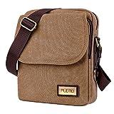 PLEMO ショルダーバッグ ビジネスバッグ 帆布 バッグ 斜めがけ メンズ トラベルバッグ アウトドアバッグ ボディバッグ 大容量 MB-001