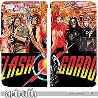 フラッシュゴードン FLASH GORDON 手帳型 arrows NX?F-01K(G007803_01) 専用 映画 アメコミ pop art センス 個性的 スマホケース