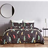 Fire Kirin Soft Duvet Cover Sets 3PC (1 Duvet Cover + 2 Pillowcases) Christmas Tree and Snow Printed Bedding Set for Boys Gir