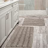 Non Slip Thick Shaggy Chenille Bathroom Rugs Soft Bath Mats for Bathroom Extra Absorbent Floor Mats Bath Rugs Set for Kitchen