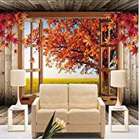 Xbwy カスタム3D風景写真の壁紙自然秋の風景黄色の葉壁壁画ホーム改善寝室の部屋テレビの背景-150X120Cm
