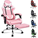 ALFORDSON Gaming Chair Racing Chair Executive Sport Office Chair with Footrest PU Leather Armrest Headrest Home Chair (Vogler