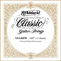 D'Addario NYL045W Silver-plated Copper Classical Single String.045 [並行輸入品]