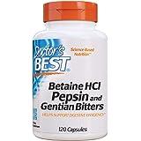Doctor's Best Betaine HCl Pepsin & Gentian Bitters, 120caps
