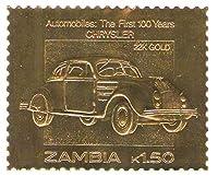 22Kカラットゴールドリーフオート100クラシックカースタンプCHRYSLER / 1987 /ザンビア/MNH