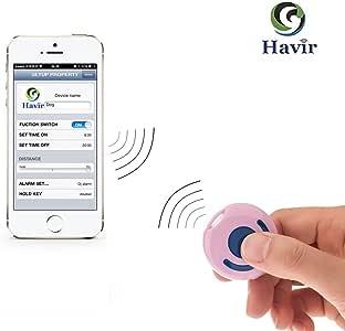 Havir カギ・バッグ・スマホなどの紛失防止タグ キーファインダー iPhone 5s/5c/5/4s /ipad3/ipad mini/ ipod Touch5/Androidなど対応 HV100(ピンク)