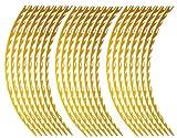 AUTOMAX izumi リム(17~19)黄炎▼ファイアーパターン反射イエロー幅1cmリムステッカー17~19インチ対応