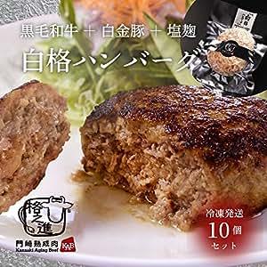 格之進 白格ハンバーグ セット 冷凍 黒毛和牛 白金豚 国産牛肉 ギフト対応 150g × 10個入り