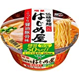 【ケース販売】明星 低糖質麺 はじめ屋 糖質50%オフこってり 醤油豚骨味 84g×12個