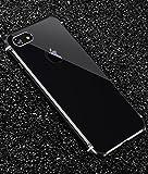 iPhone 7 メタルバンパー、Uniqe 高品質アルミ製フレーム+バックプレート スクラッチ保護 オシャレデザイン 最高レベル耐衝撃 ケース (iPhone 7, ブラック)