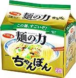サッポロ一番 麺の力 ちゃんぽん 5食P×6個