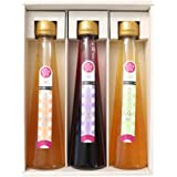 ふみこ農園 飲むお酢 フルーティde酢 3本セット いちじく ゆず ブルーベリー 賞味期限 製造日より180日間 (通常)