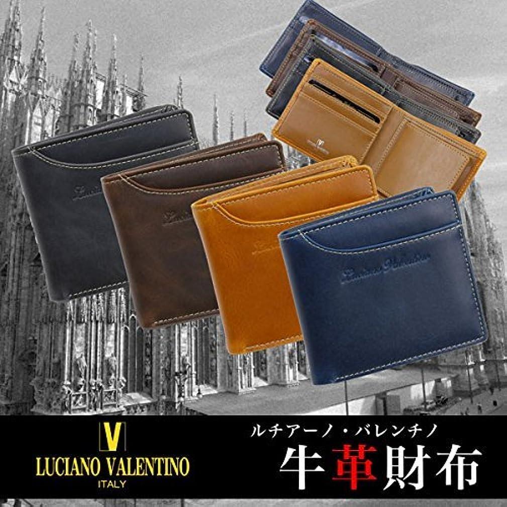 有害な内陸帰るルチアーノ バレンチノ 二つ折り財布 短財布 LUV-2004-BK ブラック
