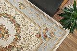 おしゃれ な 花柄 薄型 ラグ アルダ アイボリー パステル ブルー 約 240×240 cm 約 4.5畳 ゴブラン織り カーペット 折りたたみ 可能 ホットカーペットカバー 対応