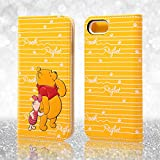 レイ・アウト iPhone7ケース ディズニー 手帳型 ケース(ICカード /ストラップホール) ポップアップ スタンディング カーシヴ/くまのプーさん RT-DP12T/PO