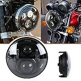 XPLIGHT 7インチ丸型 ホンダCB1100 LEDヘッドライト ホーネット900対応 Hi/Lo切り替え ホンダCBシリーズ丸形タイプ汎用 ブラック 一年保障