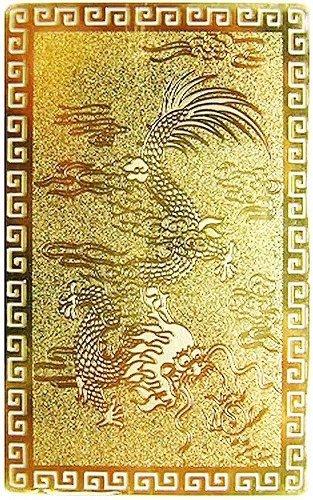 風水の開運カード【NO-1】■五本爪の皇帝龍■(金属製) 護符
