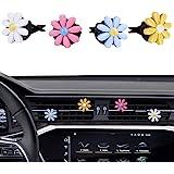 MINI-FACTORY Car Interior Decoration, Cute Colorful Bow, Rainbow, Flowers Car Decor Air Vent Accessories for Girls & Women (D