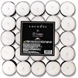 Cocodor Scented Tealight Candles/Cotton Flower / 25 Pack / 4-5 Hour Extended Burn Time/Made in Italy, Cotton Wick, Scented Ho