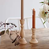CHXIHome Candlesticks Holders, Wood Classic Craft Candlesticks Holders,Wood Home Decor Wooden Pillar Candlestick Holder, Cand