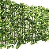 ottostyle.jp グリーンフェンス 緑のカーテン 約3m×1m 【ローズリーフ】 ソフトネットタイプ 目隠し リーフフェンス フェイクグリーン 日よけ サンシェード