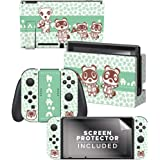 """Controller Gear Aunthentic & Officially Licensed Animal Crossing: New Horizon - """"Tom Nook & Friends"""" Nintendo Switch Skin Bun"""