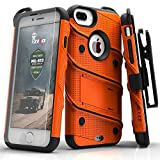 Zizo ジゾウ ボルトカバー iPhone 7 Plus Case, Zizo Bolt Cover with FREE [.33mm 9H Tempered Glass Screen Protector] Heavy Duty Armor [Military Grade] Kickstand Holster Belt Clip Orange/Black オレンジ/ブラック[並行輸入]