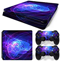 Sony PS4 Playstation 4 Slim Skin Design Foils Faceplate Set - Spiral Design