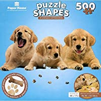 Paper House Jigsaw Shaped Puzzle 500 Pieces 30.5'X10.5' Golden Retriever Puppies [並行輸入品]