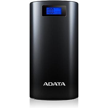 ADATA 20000mAh モバイルバッテリー デジタルディスプレイ付き 1年間保証 AP20000D-DGT-5V-CBK