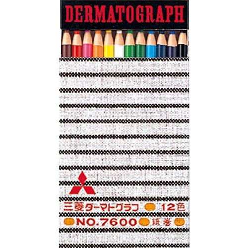 三菱鉛筆 色鉛筆 油性ダーマトグラフ No.7600 12色 ...